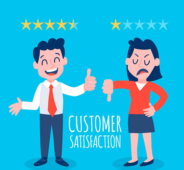 good versus bad customer satisfaction