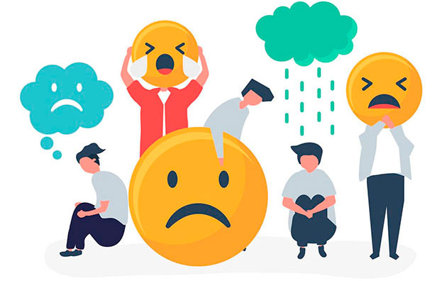 sad customers because of negative experience with a business